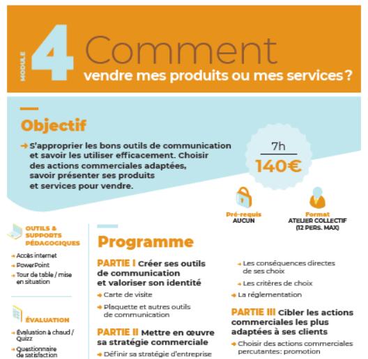 Module n°4 : Comment vendre mes produits ou mes services ?