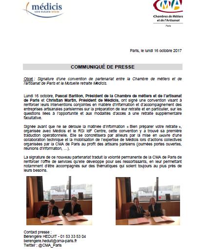 Information : partenariat avec Medicis