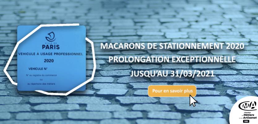 Macarons de stationnement : prolongations