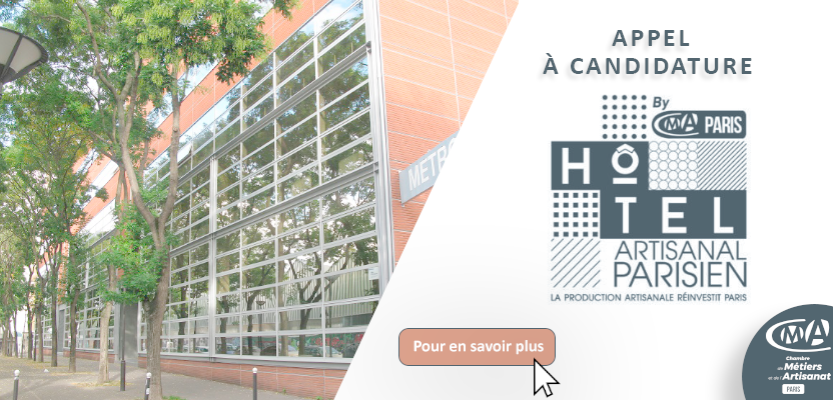 Appel à candidature - Hôtel artisanal parisien