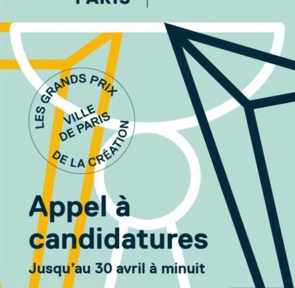 Les Grands Prix de la Création de la Ville de Paris 2021 - Appel à candidatures
